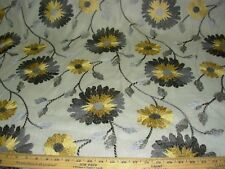 "~BTY~FABRICUT~""ARTEAUS FLORAL""~LINEN EMBROIDERED UPHOLSTERY FABRIC FOR LESS~"