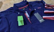 Hugo Boss Polo Men 100% cotton Regular fit Short Sleeve color Dark Blue