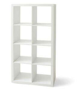 White Mainstays 8-Cube Storage Organizer Tall Display Books