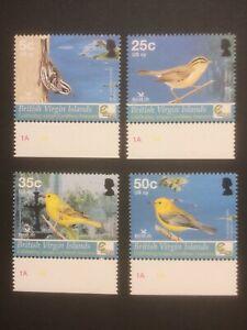 BRITISH VIRGIN ISLANDS 2005 BIRDS 4 MNH VALUES