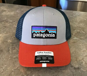 Patagonia P-6 Logo LoPro Trucker Hat Cap Salt Grey BNWT Ships in Box SOLD OUT!!