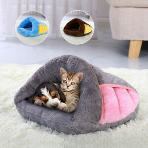 Pet Cat Nest Sleeping Bag Mat Cave Winter Warm Kitten Soft Pad House Bed Kennel