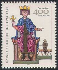 Germany 1994 Emperor Freidrich II/Birds/Raptors/Royalty/Books/People 1v (n29531)