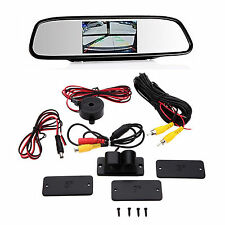 4.3 Inch Car LCD Mirror HD Screen+Radar Sensor Night Vision Alarm System Camera