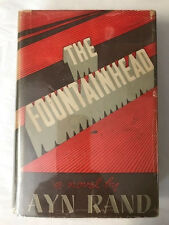 AYN RAND THE FOUNTAINHEAD 1st in dj 1943 1ST BLACKISTON EDITION