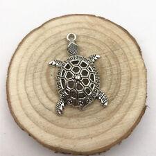 2pcs Turtle Charm Tibetan Silver Tone Pendant  Charms Pendants 38x25mm