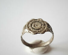 MEDIEVAL VIKING SILVER ENGRAVED RING 8th-10th AD