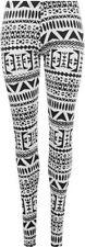 Geometric Regular Size Leggings for Women