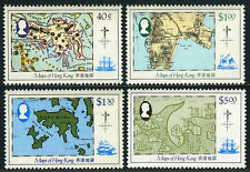 Hong Kong 427-430, MNH. Various Maps. Ships, 1984