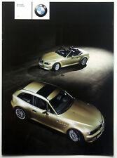 BMW z3 3.0i Coupé/Roadster-Prospectus/Brochure original de 2000
