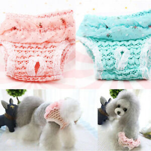 1Pc Dog Diaper Physiological Pants Sanitary Panties Washable Female Dog Pant MD