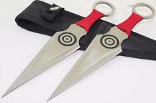 Naruto Kunai Uzumaki Bullseye Ninja 2-PC Double Edge Throwing Knife Knives Set R