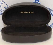 Michael Kors Glasses Eyeglass Case Sunglass Hard Clamshel Large Brown Sunglasses
