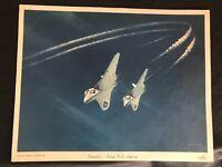 Vintage Douglas Aircraft Company Vendor Print Navy F4D Skyray