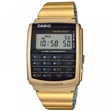 Casio Ca506g-9aef Unisex Gold Retro Calculator Watch