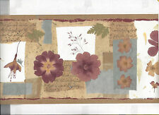 WALLPAPER BORDER FLOWERS FLORAL NEW ARRIVAL NICE!