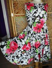 Rock & Roll Sleeveless Floral GRACE KARIN Summer Dress Size:XL in VGC