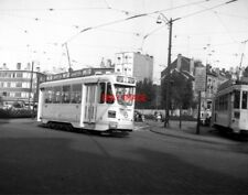 PHOTO  BELGIUM TRAMS 1959 BRUXELLES SCHAERBEEK STIB TRAM NO 9085 ON ROUTE 2
