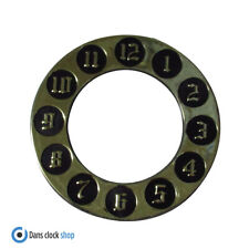 New Self Adhesive Plastic Gold Clock Dial Anneau - 100mm Outer - Numbers