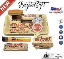 Raw Bundle Package 22 Item Box Cigarette Kit Tobbaco Rolling Tray+Tips+Papers