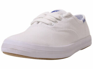 Keds Little/Big Girl's Original-Champion-CVO Sneakers Canvas Memory Foam White
