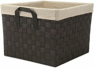 Whitmor Woven Strap Canvas Liner Shelf Tote One Size