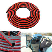 4M D-Shaped Car Truck Door Rubber Weather Seal Hollow Strip Dust-proof Black