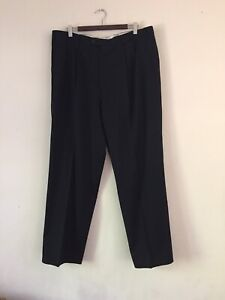 Brioni Black Pants 39 Superfine Wool Made In Italy