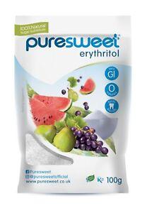 Puresweet Premium Quality 100% Natural Erythritol Zero Calorie Sweetener