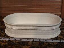 Ceramic Bisque Japanese Bonsai Pot, Formal Brick 11x6x3.5 in.