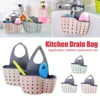 Kitchen Sink Sponge Holder Drain Basket Hanging Strainer Organizer Storage Bag