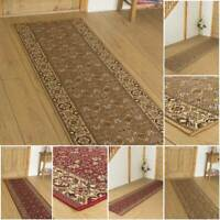 EXTRA LONG RED BEIGE TRADITIONAL FLOOR HALL HALLWAY RUNNER RUG CARPET MAT