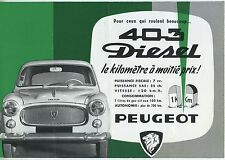 (36B) CATALOGUE PEUGEOT 403 DIESEL (moteur indenor 85)