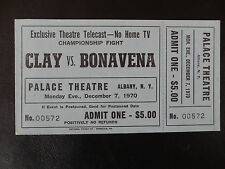 Cassius Clay v.s. Oscar Bonavena Full Ticket December 7 1970