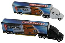 Set of 2:Kenworth T700 Semi Truck with Container Trailer 1:68 BLACK and WHITE DC