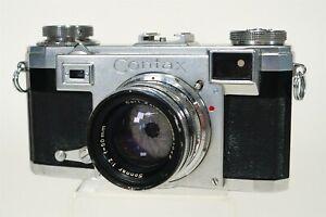 Vintage 1939 Zeiss Ikon Contax II Camera Carl Zeiss Sonnar 1:2 50mm Lens 1891042