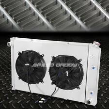 FOR 81-86 CHEVY C/K-SERIES ALUMINUM 2 ROWS RADIATOR W/COOLING PULL FAN SHROUD