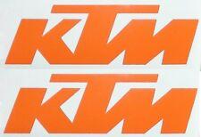 2 KTM Aufkleber/Folien groß 37cmx12cm schwarz, orange, weiß, ähnl. Prestige 1737