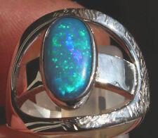 Brasil Crystal Opal 2.51 Karat 950er Silberring Größe 18,1 mm