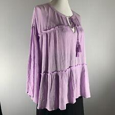 Ana Women's Ruffle Shirt Blouse   Bell Sleeve Size XL.   NWT