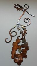 Metal Wall Art Decor Small GrapeVine Branch with Bushel