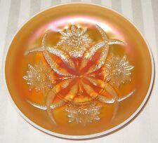 Dugan Diamond Carnival Glass Peach Opalescent Four Flowers Bowl