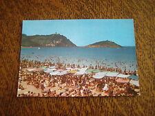 carte postale san sebastien vue du mont igueldo et de l'ile sainte claire