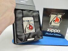 RARE 2007 ZIPPO LIGHTER SWAROVSKI CRYSTAL 75 YEARS LIMITED ED. NEW ARMOR CASE