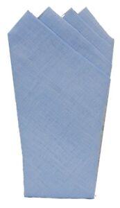 Mens Irish Linen Pocket Square Handkerchief Pre Folded Venitian
