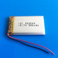 3.7V 600mAh Li Po Battery For MP3 GPS Headphone Speaker PSP Smart watch 403048
