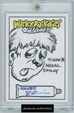 2019 Wacky Packages Old School 8 1/1 Sketch Skubis Sign-X Nasal Spray Hand Drawn