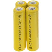 4PC AA 2A battery batteries Bulk Nickel Cadmium Rechargeable NI-Cd 2800mAh 1.2V