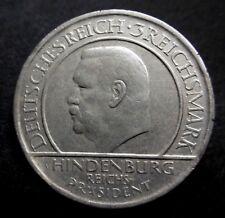 ALLEMAGNE - RÉPUBLIQUE DE WEIMAR - 3 REICHSMARK  1929 A - HINDENBURG - Argent