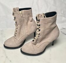 New (Other) Ann Demeulemeester Lace-up Suede Stiletto Boots MSRP $1075
